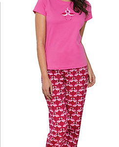 Flamingo Love Pajamas – Pink